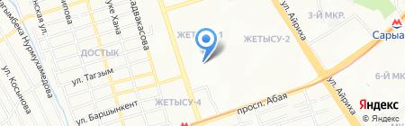 КУПС на карте Алматы