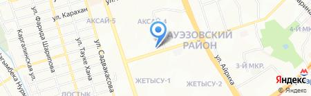Ак Отау на карте Алматы