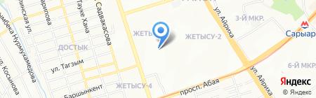 Спортивно-оздоровительный комплекс на карте Алматы