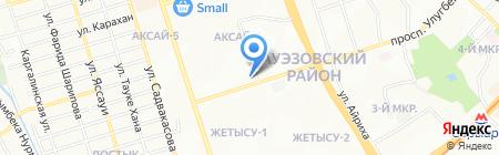 Несибе на карте Алматы