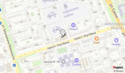 Банкомат Сбербанк. Схема проезда в Алматы