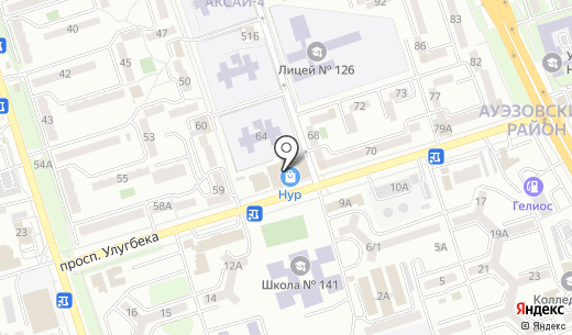 Mirax Finance. Схема проезда в Алматы