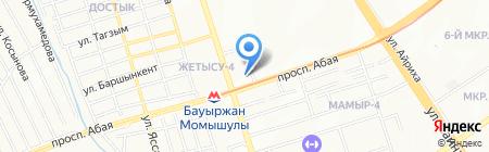 Айдын на карте Алматы