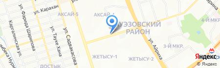 Донерыч на карте Алматы