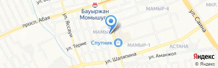 Анур на карте Алматы