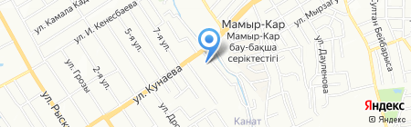 Тау Самал на карте Алматы