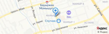 Зертас на карте Алматы