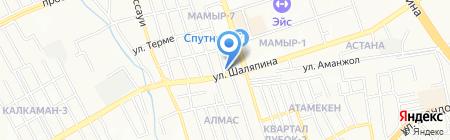 Арейон на карте Алматы