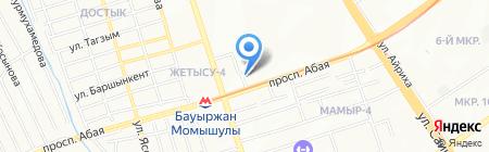 Адил на карте Алматы