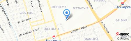Назико на карте Алматы