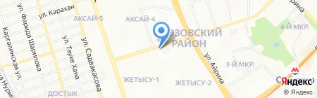 Думан на карте Алматы