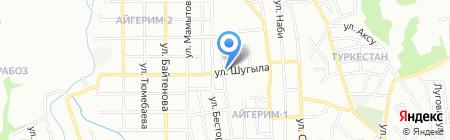 Аяру на карте Алматы