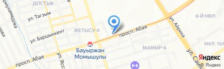 Киоск по продаже печатной продукции на карте Алматы