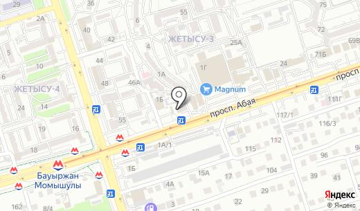Банкомат Народный Банк Казахстана. Схема проезда в Алматы