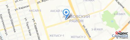 Классик-Ар на карте Алматы