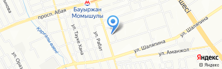 Минутка на карте Алматы