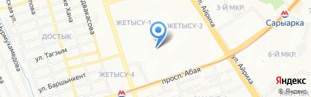 Куаныш мекенi на карте Алматы