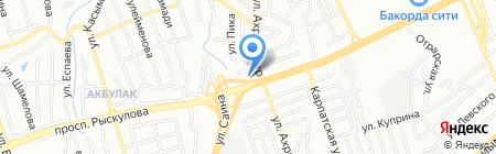Уш-Терек на карте Алматы