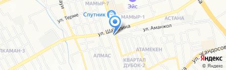 Актогай мыс на карте Алматы