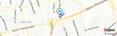 Кульджа на карте Алматы