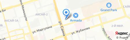 Ибис на карте Алматы