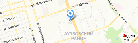 Автолига на карте Алматы