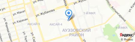 Сагишка на карте Алматы