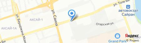 Пункт замены масла на ул. Толе би на карте Алматы