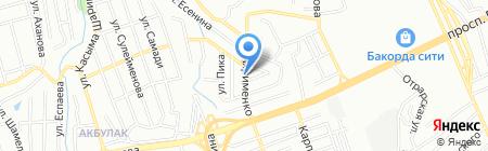 Сик на карте Алматы