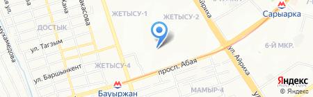 Алматы-Сити на карте Алматы