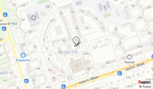 Алматы-Сити. Схема проезда в Алматы