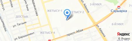 Кербез на карте Алматы