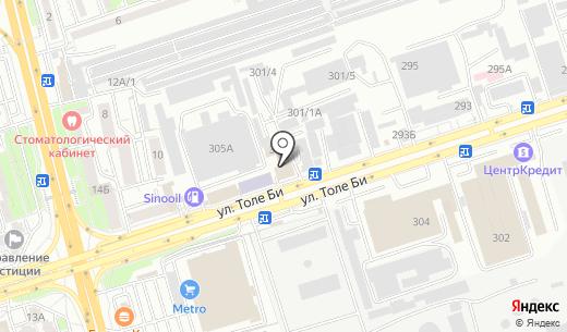 Tiara Matrix. Схема проезда в Алматы