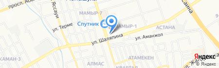Алем на карте Алматы