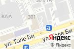 Схема проезда до компании Производственно-сервисная компания в Алматы