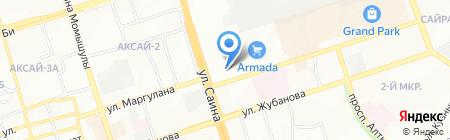 Белый дом на карте Алматы