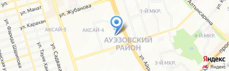 Аксай продовольственный магазин на карте Алматы