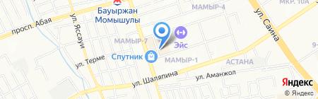 Алмас Тic на карте Алматы