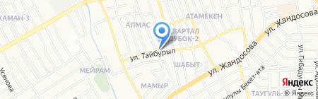 Два павлина на карте Алматы