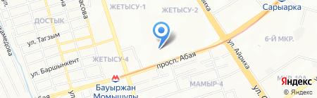 Корганыс ЛТД на карте Алматы