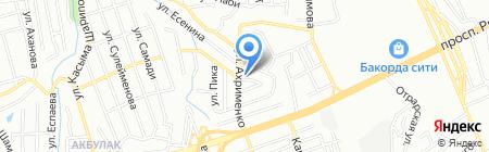 Магазин мясной продукции на карте Алматы