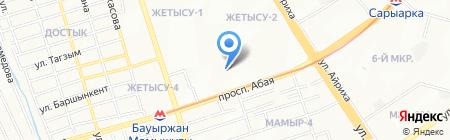 Хайкан на карте Алматы