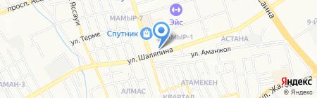 Жайик-AS на карте Алматы