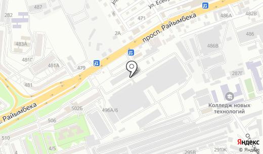 Aztrade. Схема проезда в Алматы