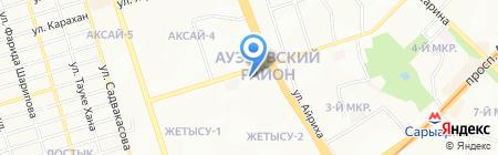 Альянс Банк на карте Алматы