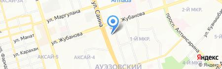 Каhарман на карте Алматы