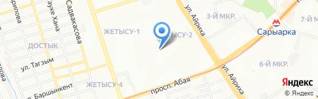 Текстиль на карте Алматы