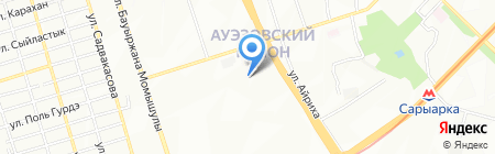 Магазин зоотоваров и женской одежды на карте Алматы