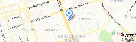 Парикмахерская на ул. 1-й микрорайон на карте Алматы