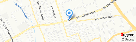 СТО на ул. Астана микрорайон на карте Алматы